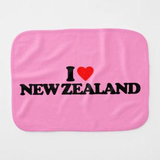 I LOVE NEW ZEALAND BABY BURP CLOTH