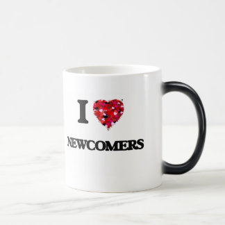 I Love Newcomers 11 Oz Magic Heat Color-Changing Coffee Mug