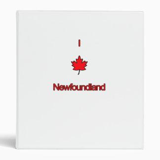 I Love Newfoundland 3 Ring Binders