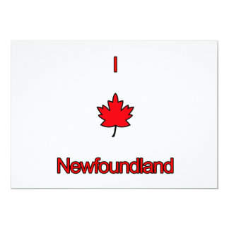 I Love Newfoundland 5x7 Paper Invitation Card