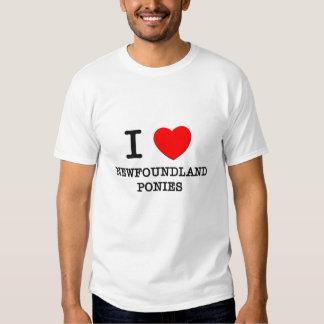 I Love Newfoundland Ponies (Horses) Tee Shirts