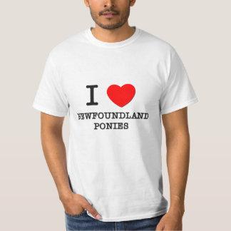 I Love Newfoundland Ponies (Horses) Tshirt