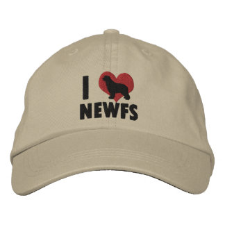 I Love Newfs Embroidered Hat
