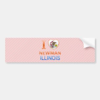 I Love Newman, IL Bumper Sticker
