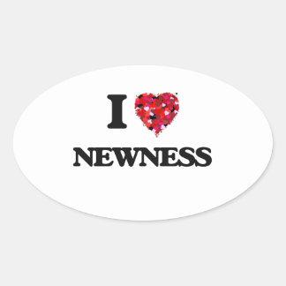 I Love Newness Oval Sticker