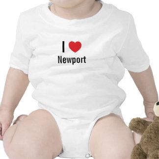 I love Newport Baby Jumper Tshirt