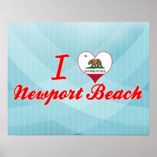 I Love Newport Beach, California Print