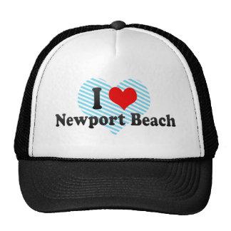 I Love Newport Beach, United States Trucker Hat