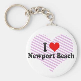 I Love Newport Beach, United States Keychains