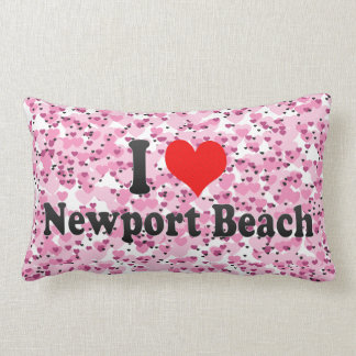 I Love Newport Beach, United States Pillows