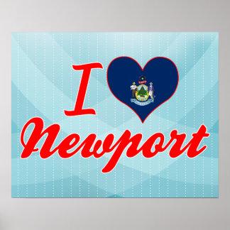 I Love Newport, Maine Posters