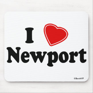 I Love Newport Mouse Pad