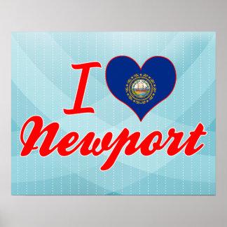 I Love Newport, New Hampshire Poster