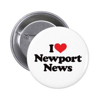 I Love Newport News Pinback Button