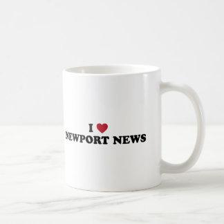 I Love Newport News Virginia Basic White Mug