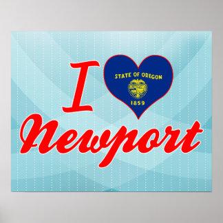 I Love Newport, Oregon Posters