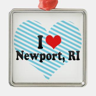I Love Newport, RI Christmas Tree Ornaments