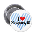 I Love Newport, RI Pinback Button