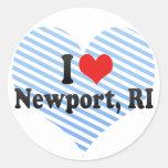 I Love Newport, RI Round Stickers