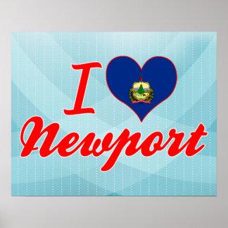 I Love Newport, Vermont Poster