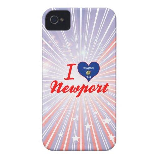 I Love Newport, Wisconsin iPhone 4 Case-Mate Cases