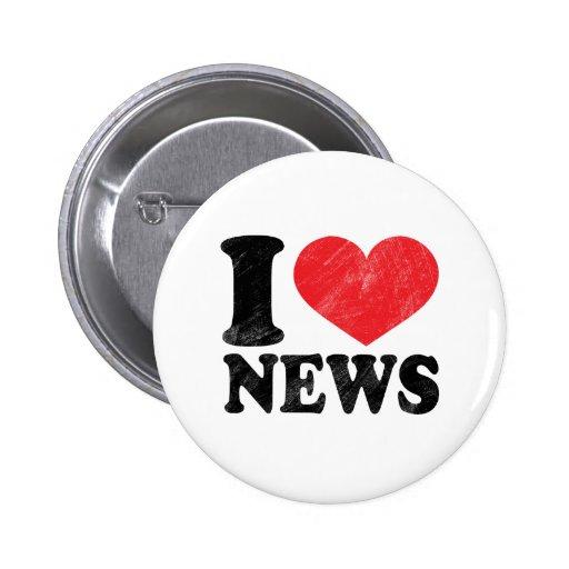 I Love News 2 Inch Round Button