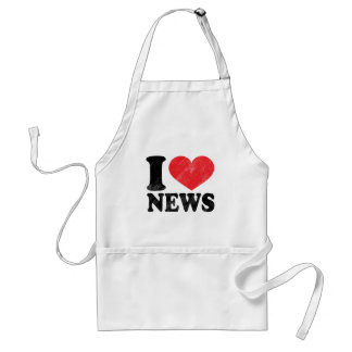 I Love News Adult Apron