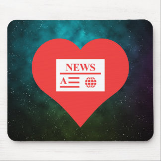 I Love News Articles Mouse Pad