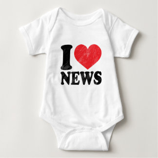 I Love News Baby Bodysuit