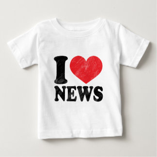 I Love News Baby T-Shirt