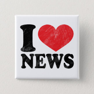 I Love News Pinback Button