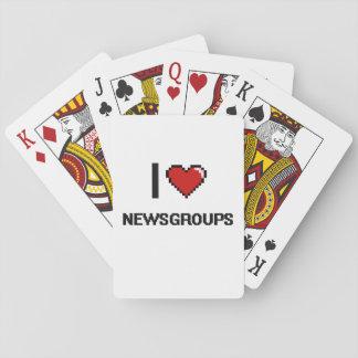 I Love Newsgroups Digital Retro Design Poker Deck