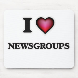 I Love Newsgroups Mouse Pad
