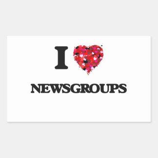 I Love Newsgroups Rectangular Sticker