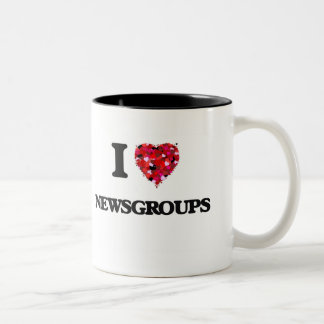 I Love Newsgroups Two-Tone Coffee Mug