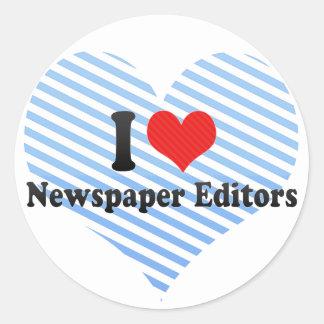 I Love Newspaper Editors Stickers