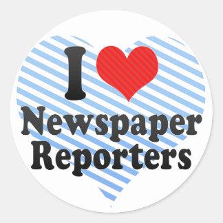 I Love Newspaper Reporters Stickers