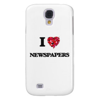 I Love Newspapers Samsung Galaxy S4 Covers