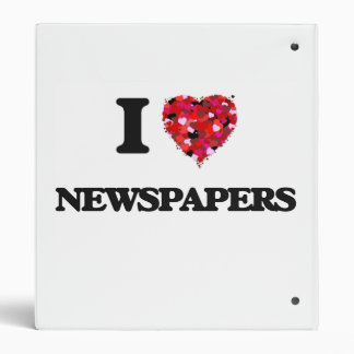 I Love Newspapers Vinyl Binder