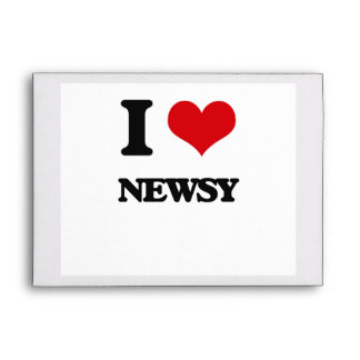 I Love Newsy Envelope
