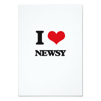 "I Love Newsy 3.5"" X 5"" Invitation Card"