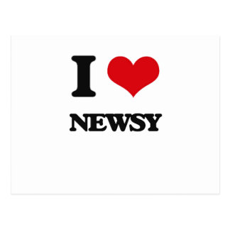 I Love Newsy Postcard
