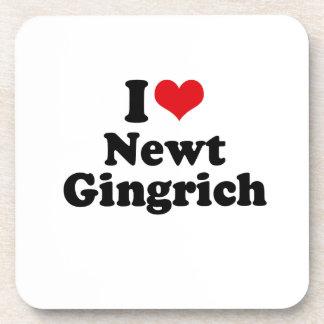 I LOVE NEWT GINGRICH BEVERAGE COASTER