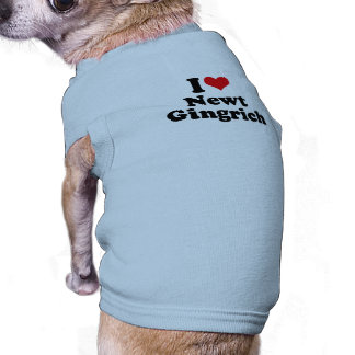 I LOVE NEWT GINGRICH DOGGIE T-SHIRT