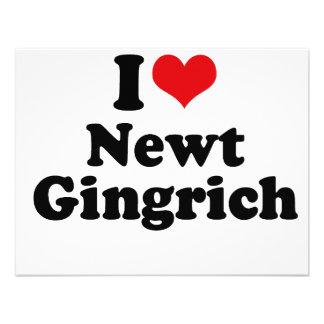I LOVE NEWT GINGRICH CUSTOM INVITES