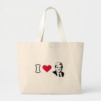 I Love Newt Gingrich Large Tote Bag