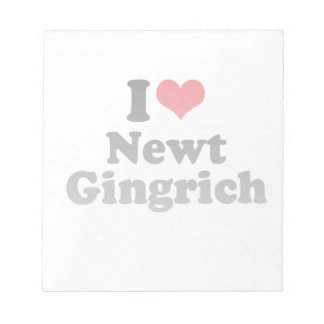I LOVE NEWT GINGRICH MEMO NOTE PAD