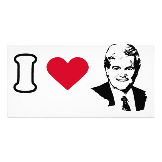 I Love Newt Gingrich Photo Card Template