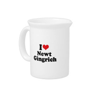 I LOVE NEWT GINGRICH DRINK PITCHERS