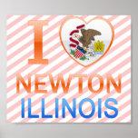 I Love Newton, IL Posters